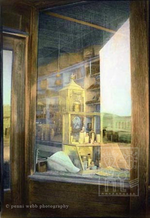 Hand Tinted Photograph Bodie General store California