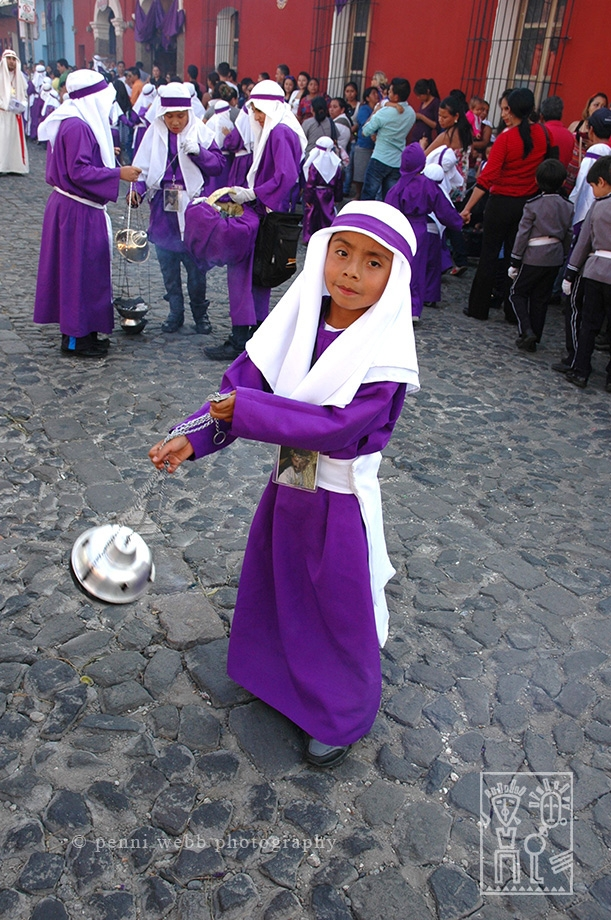 Boy w incense  Guatemala