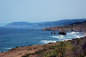 On the coast by Mendocino