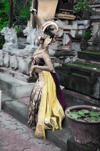 Bali Girl Dancing - Hand Tinted Photograph