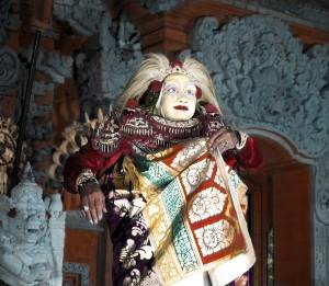 Bali Male Dancer, Hand Tinted Photograph