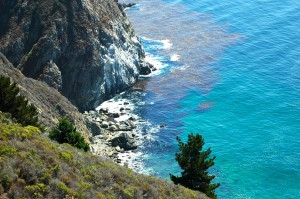 Looking down on the grounds of Esalen