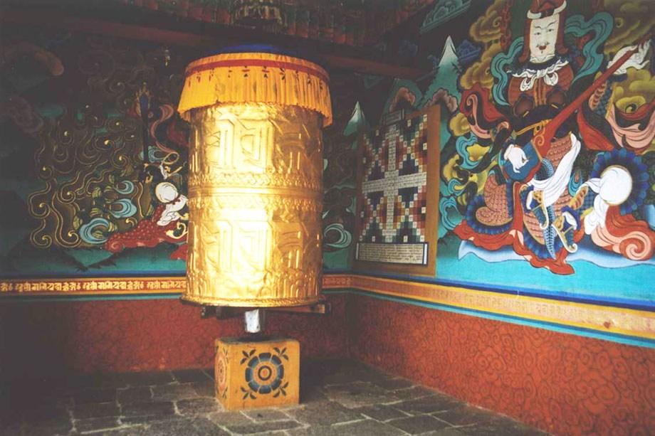 Golden Prayer wheel