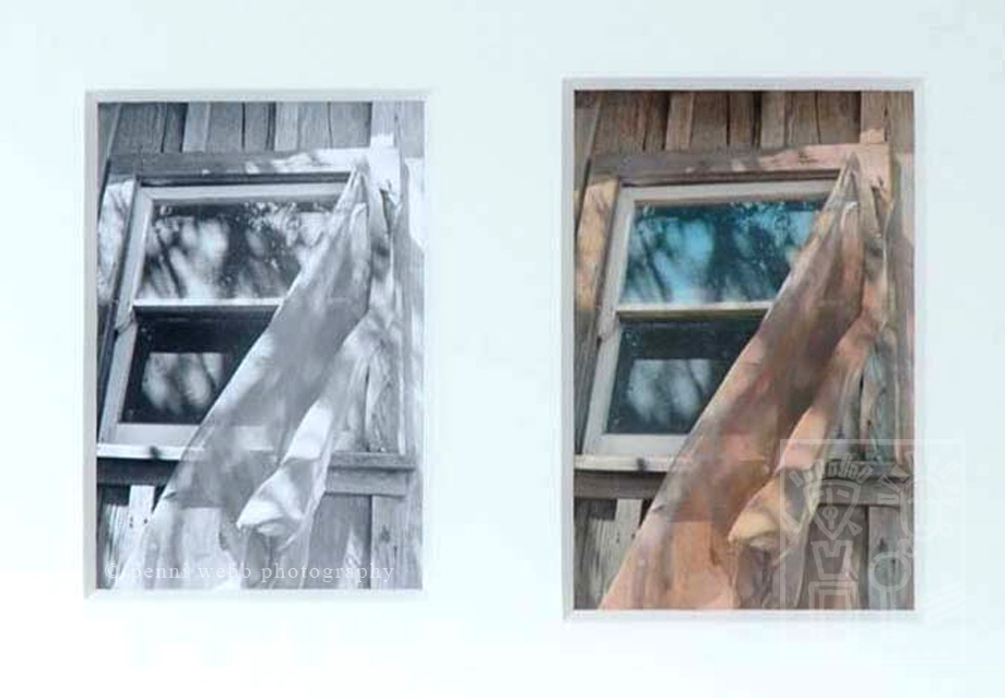 The Window, framed