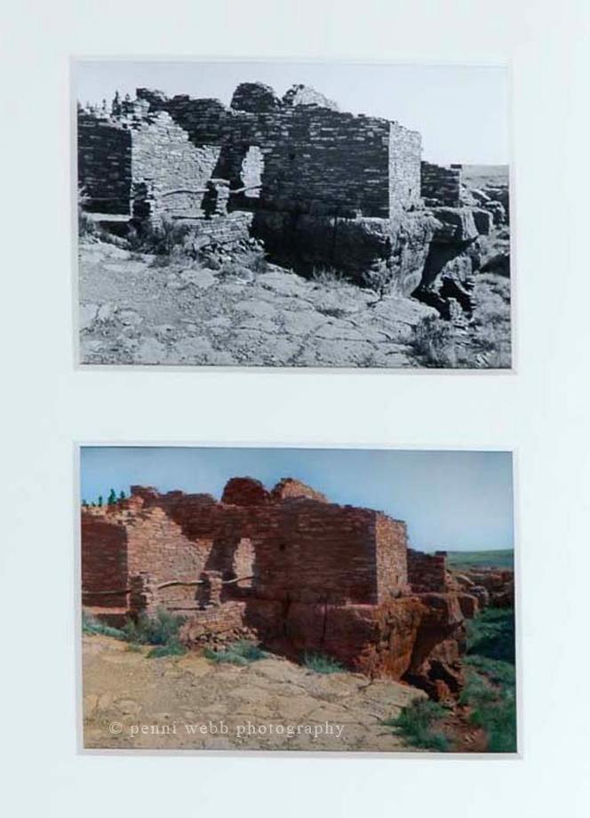 Hopi Ruins, framed