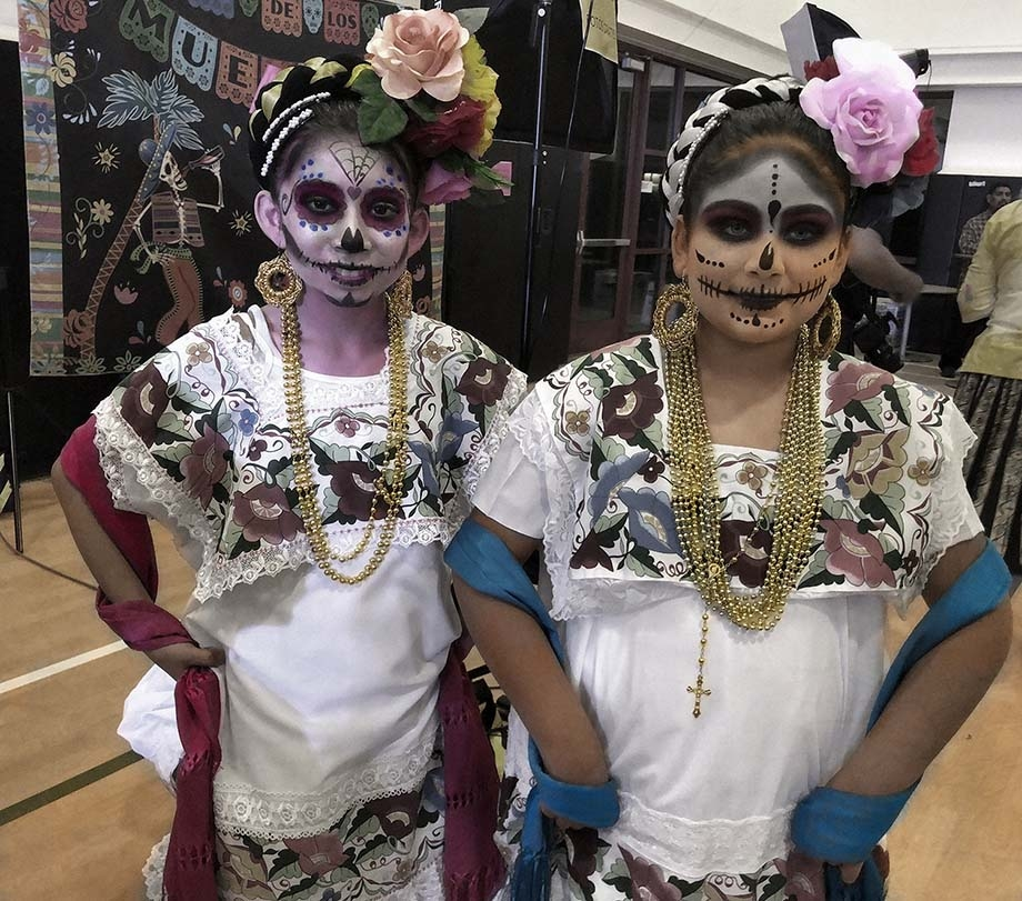Two girls ready to perform.