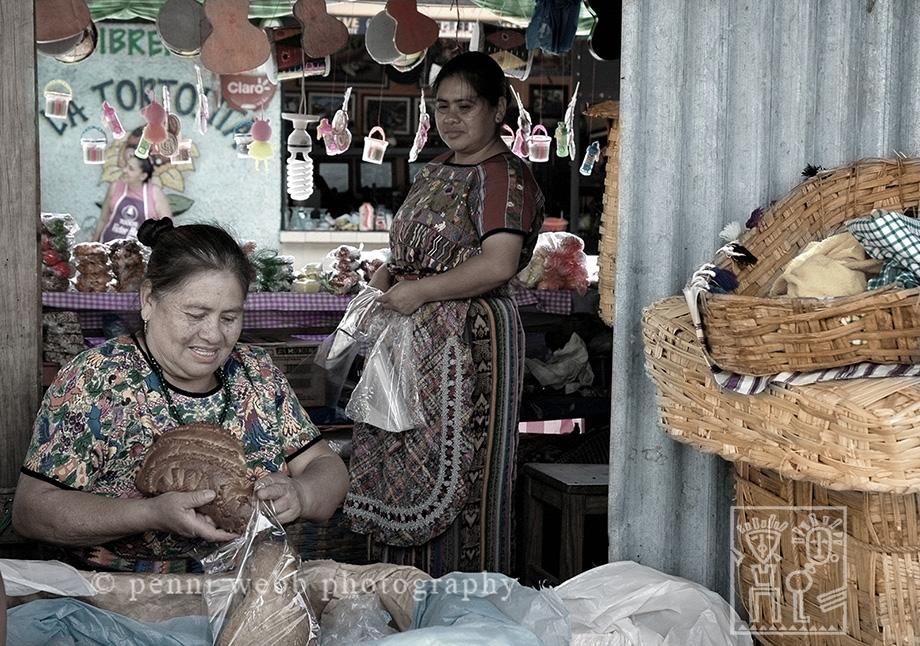 2 Guatemalan Women at Market