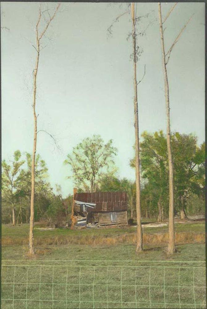 Georgia cottage, framed