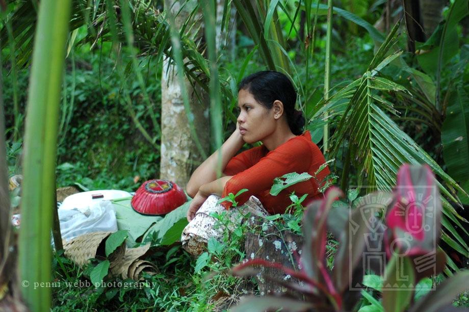 Woman in jungle Bali