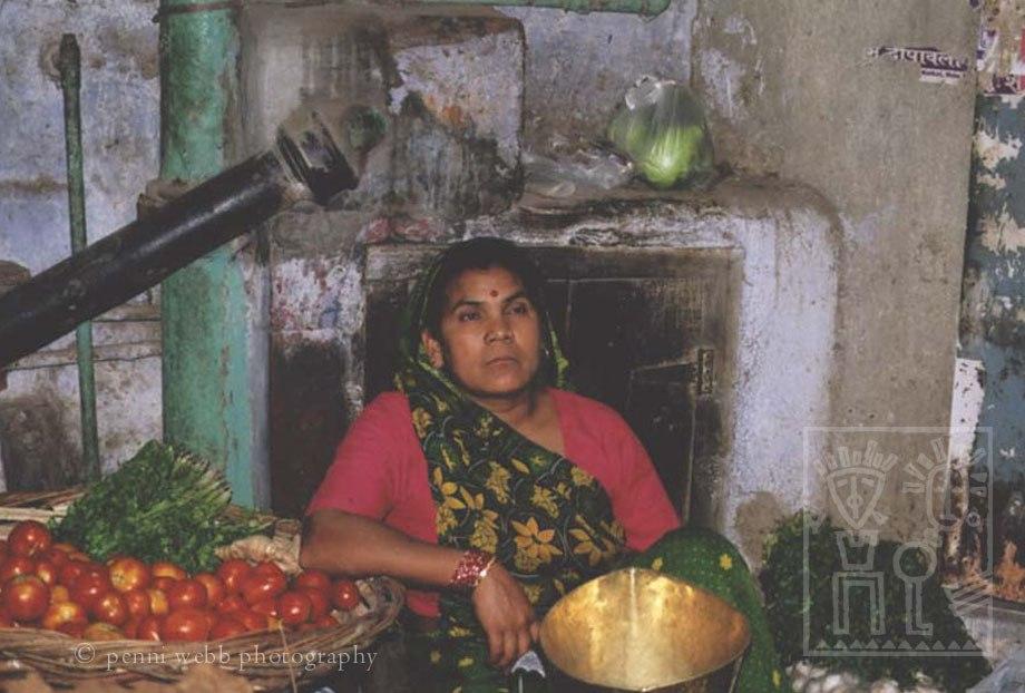 Woman selling vegies