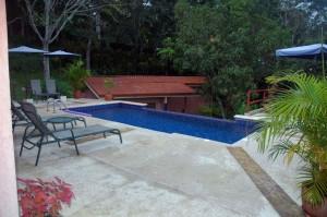 Rain in the Pool.