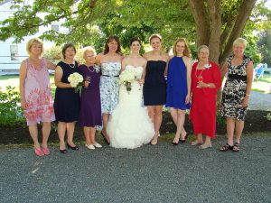 Ladies at the wedding