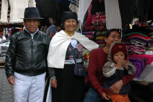 Family at the market that sold me Angora shawls.