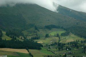 Lush, Green Mountains in Ecuador